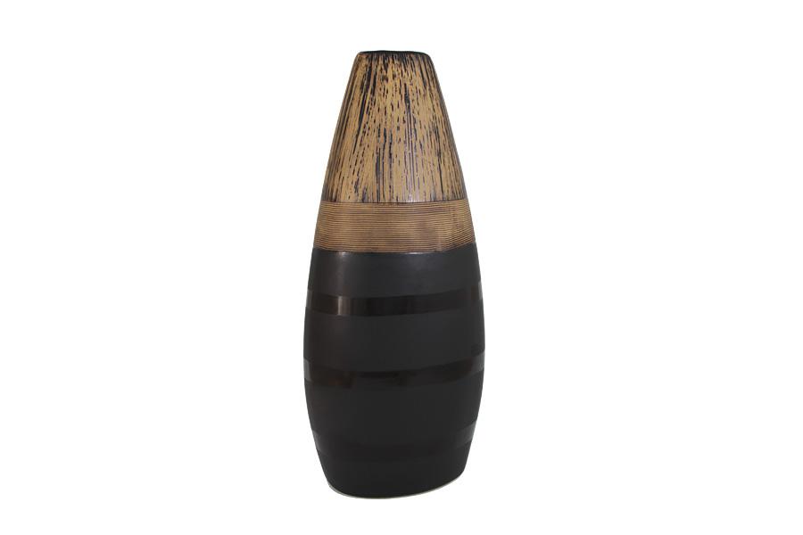 Декоративная ваза 37см Бангкок. SDJ-42-601371-2-ALSDJ-42-601371-2-ALSDJ (ЭсДиДжей) — это оригинальные керамические вазы различных форм, размеров и дизайна, выполненные, главным образом, в этническом стиле. Этнический стиль в декоре интерьера появился в начале XX века и с тех пор продолжает завоевывать все больше поклонников. Это связано с интересом людей ко всему необычному и экзотическому, что делает жизнь более интересной и яркой. Особенностью ваз SDJ является сочетание различных текстур на их поверхности. Контрастность матовой или глянцевой поверхности с рельефными участками создает динамичный яркий образ. Изделия SDJ смогут прекрасно дополнить любой интерьер, заняв в нем центральное место.