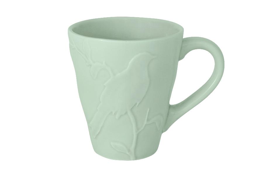 Кружка SantaFe Птицы, цвет: зеленый, 300 млSL-SM15014gr-ALКружка SantaFe Птицы изготовлена из качественной глазурованной керамики и декорирована рельефом в виде птицы. Такая кружка станет удачным приобретением и каждый раз во время чаепития будет радовать вас своим дизайном и качеством исполнения.