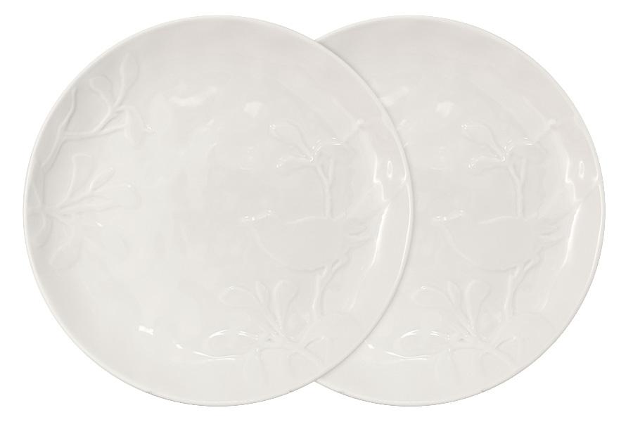 Набор из 2-х тарелок обеденных Птицы (кремовая). SL-SP15072cr-ALSL-SP15072cr-AL