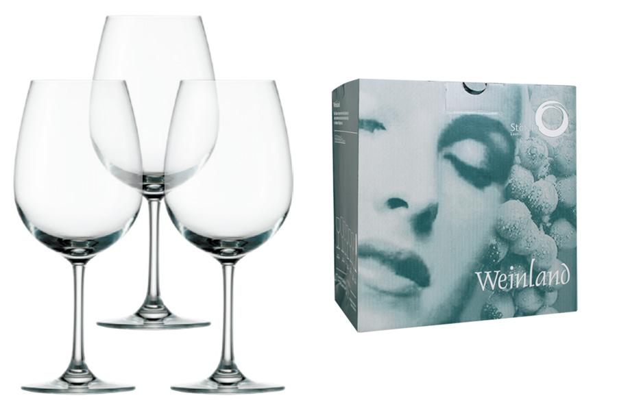 Набор: 6 бокалов для вина Weinland, большие. STZ-1000035-ALSTZ-1000035-ALСовременная классика – именно так можно охарактеризовать продукцию немецкой компании Stolzle. Бокалы для вина, шампанского и виски, а также стаканы из коллекции «Weinland» изготовлены из стекла без добавления свинца, обладают кристальной прозрачностью, долговечны и прочны, подходят для частого использования и мытья в посудомоечной машине. Широкая у основания чаша – отличительная особенность бокалов для вина. Налитое в такой бокал вино лучше всего раскрывает свой изысканный вкус и неповторимый аромат. Специальная зауженная кверху форма бокалов для шампанского («флейта») позволяет раскрыть все грани вкуса игристого вина. Пузырьки в таком бокале не улетучиваются, а значит можно долго наслаждаться любимым напитком. Утолщенное дно и стенки стаканов долго сохраняют напиток прохладным. Серия «Weinland» от компании Stolzle имеет оптимальное соотношение цены и качества, что позволяет сохранять высокие объемы продаж вне зависимости от сезона.
