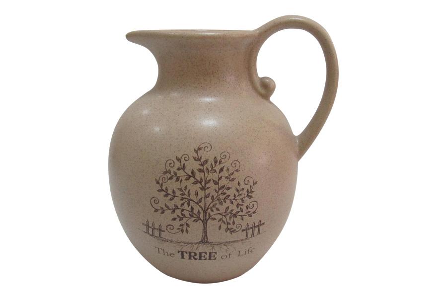 Кувшин Terracotta Дерево жизни, 1,85 лTLY1128-TL-ALКувшин Terracotta Дерево жизни, изготовленный из высококачественной керамики, оснащен эргономичной ручкой. В нем будет удобно хранить и подавать на стол молоко, соки или воду. Кувшин Terracotta Дерево жизни украсит любой кухонный интерьер и станет хорошим подарком для ваших близких. Рекомендуется мыть теплой водой с небольшим количеством моющих средств. Можно использовать в микроволновой печи.