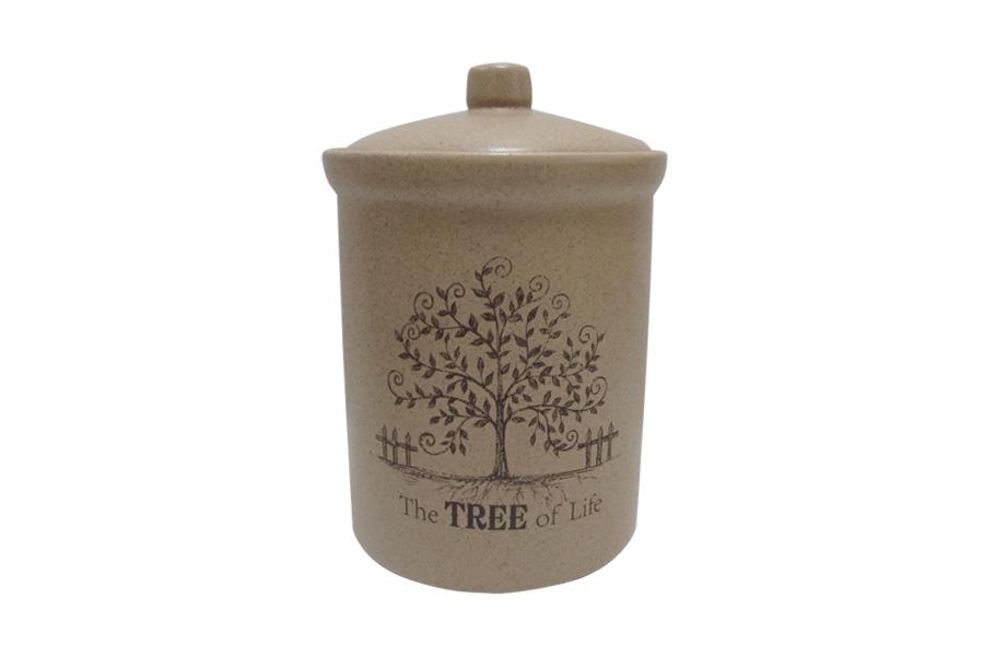 Банка для сыпучих продуктов средняя Дерево жизни. TLY301-3-TL-ALTLY301-3-TL-ALДостоинства керамической посуды, известные во всем мире: отсутствие выделений химических примесей, равномерный нагрев и долгое сохранение температуры позволяют придавать особый аромат пище, сохранять витамины и другие ценные питательные вещества. Изделия Terracotta идеально подходят для выпечки, приготовления различных блюд и разогревания пищи в духовом шкафу или микроволновой печи. Могут использоваться для хранения продуктов, в том числе в холодильнике. Мыть керамическую посуду рекомендуется теплой водой с небольшим количеством моющих средств. Лучше не использовать абразивные пасты и металлические мочалки. Допускается мытье в посудомоечной машине при соблюдении инструкции изготовителя посудомоечной машины. Посуда требует осторожности: защиты от сильного удара или падения. В наборах и отдельных предметах используются и другие виды материалов, вышеуказанные рекомендации применимы только к керамическим изделиям. Посуда торговой марки Terracotta совмещает в себе современные технологии...