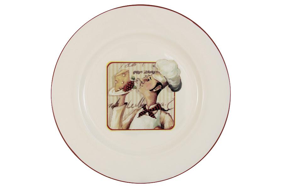 Тарелка обеденная Шеф-повар. TLY802-1-CHEF-ALTLY802-1-CHEF-ALДостоинства керамической посуды, известные во всем мире: отсутствие выделений химических примесей, равномерный нагрев и долгое сохранение температуры позволяют придавать особый аромат пище, сохранять витамины и другие ценные питательные вещества. Изделия Terracotta идеально подходят для выпечки, приготовления различных блюд и разогревания пищи в духовом шкафу или микроволновой печи. Могут использоваться для хранения продуктов, в том числе в холодильнике. Мыть керамическую посуду рекомендуется теплой водой с небольшим количеством моющих средств. Лучше не использовать абразивные пасты и металлические мочалки. Допускается мытье в посудомоечной машине при соблюдении инструкции изготовителя посудомоечной машины. Посуда требует осторожности: защиты от сильного удара или падения. В наборах и отдельных предметах используются и другие виды материалов, вышеуказанные рекомендации применимы только к керамическим изделиям. Посуда торговой марки Terracotta совмещает в себе современные технологии...
