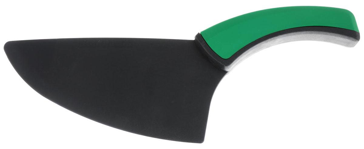 Нож для нарезания и порциона пиццы Fackelmann, цвет: зеленый, черный48581_зеленыйНож Fackelmann, изготовленный из высококачественного нейлона, предназначен для нарезания и порциона пиццы. Нож оснащен удобной ручкой из пластика, не скользит в руках и делает резку удобной и безопасной. Нож Fackelmann займет достойное место среди аксессуаров на вашей кухне. Длина ножа: 27 см. Размер рабочей поверхности: 16 см х 8 см. Длина лезвия: 16 см.