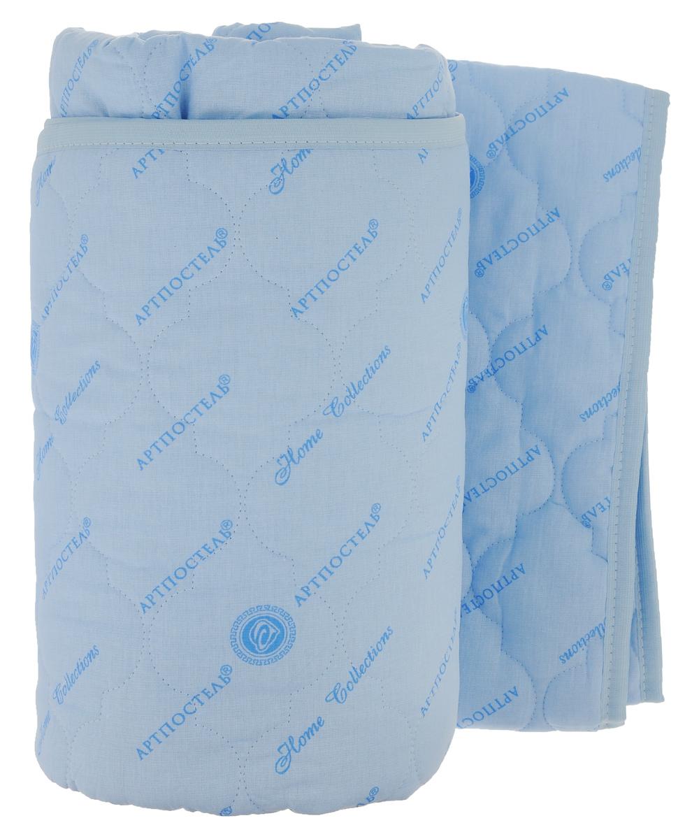 Наматрасник стеганый Арт Постель, цвет: голубой, 160 х 200 см3036_голубойНаматрасник Арт Постель с наполнителем из полого сильно извитого силиконизированного волокна сделает ваш сон еще комфортнее. Чехол, выполненный из поликоттона, оформлен декоративной стежкой и кантом. Благодаря современным технологиям обработки, волокна наполнителя двигаются внутри изделия независимо друг от друга. Данное преимущество придает изделию пышность и упругость. Не вызывает аллергии, способствует циркуляции воздуха в изделии, не впитывает запахи. Подвергается многочисленным стиркам, не теряя своих первоначальных качеств. Наматрасник оснащен резинками по углам, поэтому прочно удерживается на матрасе и избавляет от необходимости часто поправлять. Это защитит матрас от грязи и пыли и придаст дополнительный комфорт вашему спальному месту. Мягкий и легкий, он прекрасно подойдет для жестких кроватей и диванов, делая ваш сон спокойным и приятным. Наматрасник упакован в прозрачный пластиковый чехол на змейке с ручкой, что является чрезвычайно...