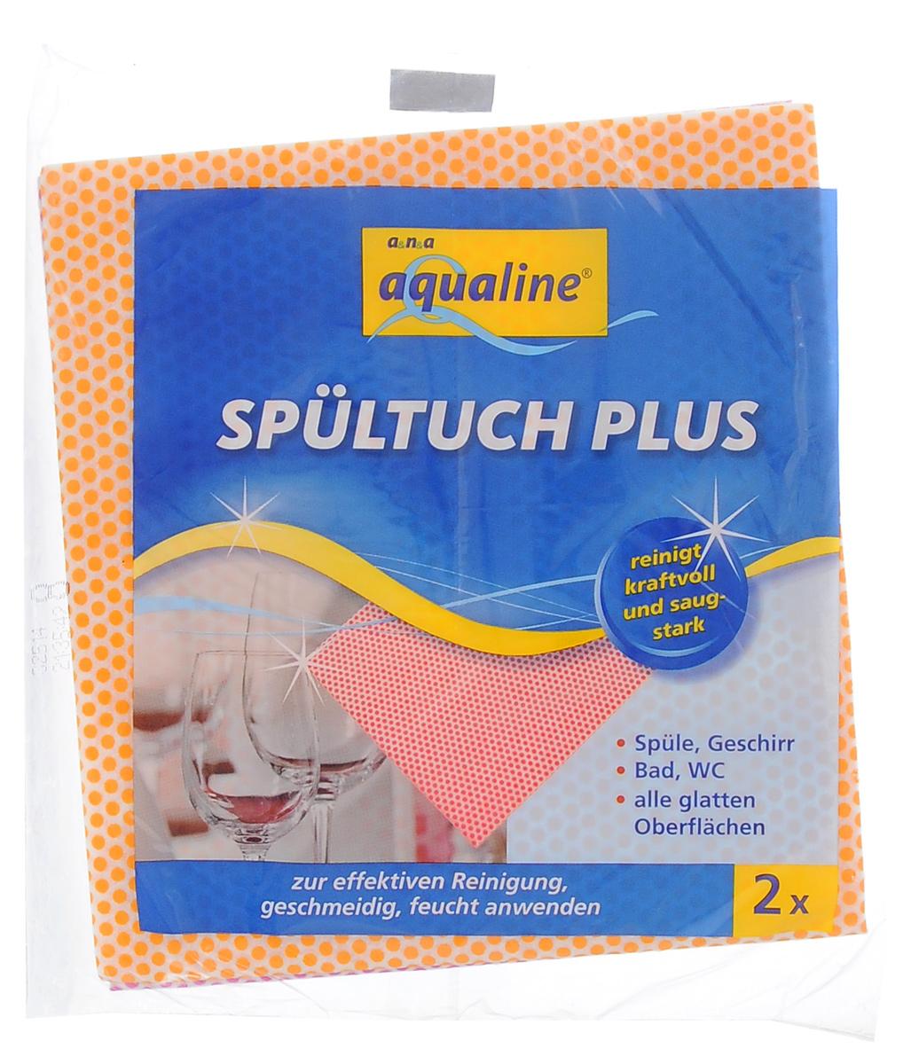 Салфетка Aqualine Plus для посуды и домашнего хозяйства, цвет: оранжевый, малиновый, 35 х 38 см, 2 шт2058_оранжевый, малиновыйМягкая салфетка Aqualine Plus обладает высокими чистящими свойствами за счет специальных точек, которые находятся на поверхности ткани. Она прекрасно подходит как для мытья посуды, так и для уборки поверхностей на кухне и в ванной комнате. Благодаря рифленой структуре салфетка удаляет даже самые сильные загрязнения, хорошо впитывая жидкость, не оставляя ворсинок. Состав: 82% вискоза, 18% полипропилен.