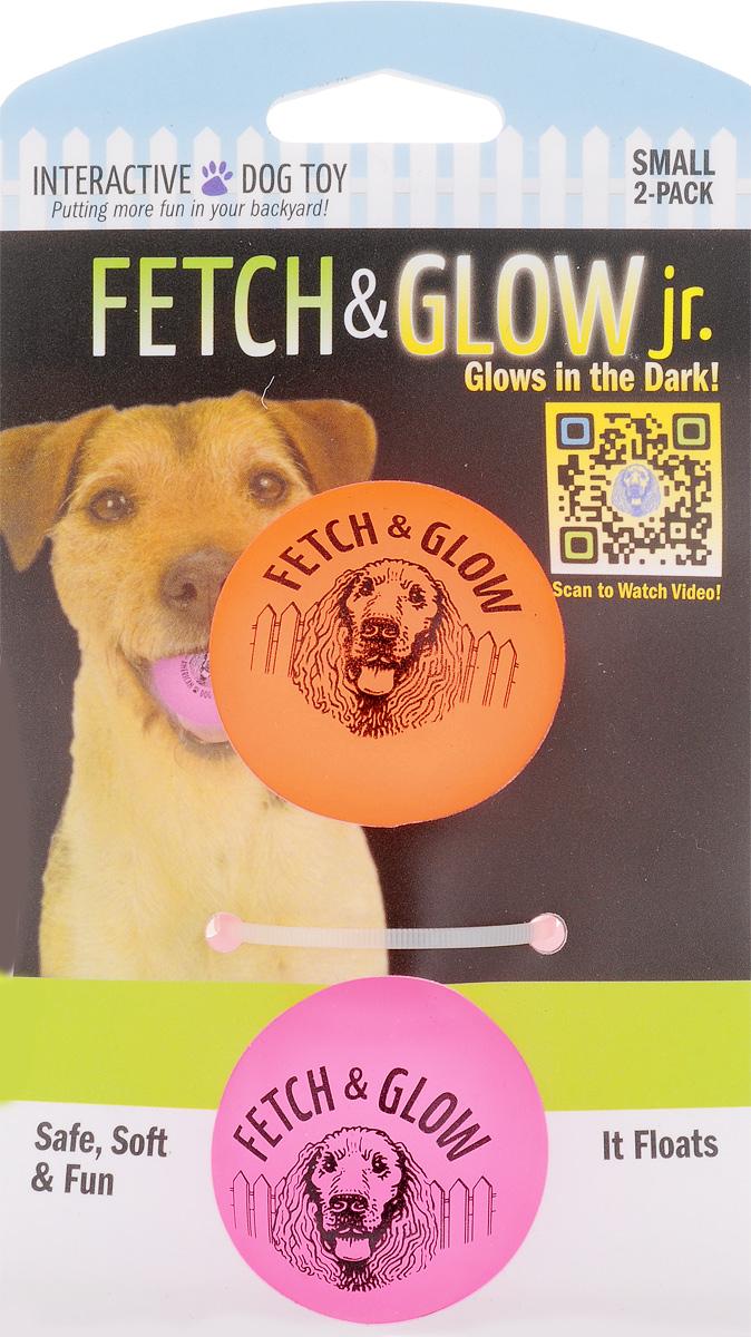 Игрушка для собак Fetch & Glow Jr. Светящийся мяч, цвет: оранжевый, розовый, диаметр 4,5 см, 2 шт6052_оранжевый, розовыйНабор для собак Fetch & Glow Jr. Светящийся мяч состоит из 2 игрушек, изготовленных из прочной цветной литой резины. Изделия светятся в темноте, благодаря чему вы не потеряете игрушки. Предназначены для игр с собакой любого возраста. Такая игрушка привлечет внимание вашего любимца и не оставит его равнодушным. Диаметр: 4,5 см. Комплектность: 2 шт.