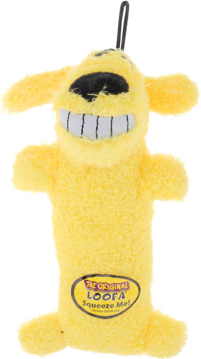 Игрушка для животных Multipet Собака, с пищалкой, цвет: желтый12-47711_желтыйИгрушка Multipet Собака изготовлена из прочного и долговечного полиэстера, устойчивого к разгрызанию. Необычная и забавная игрушка прекрасно подойдет для собак и кошек, любящих плюшевые игрушки с пищалками.