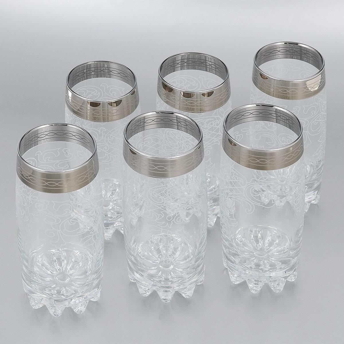 Набор стаканов для коктейля Гусь-Хрустальный Люция, 390 мл, 6 шт812/03Набор стаканов для коктейлей Гусь-Хрустальный Люция изготовлен из натрий-кальций-силикатного стекла. Набор состоит из 6 стаканов, выполненных в элегантном дизайне. Такие стаканы украсят любой праздничный стол. Набор стаканов для коктейлей может стать отличным подарком к любому празднику. Можно мыть в посудомоечной машине. Диаметр стакана по верхнему краю: 6 см. Высота стакана: 14,7 см.