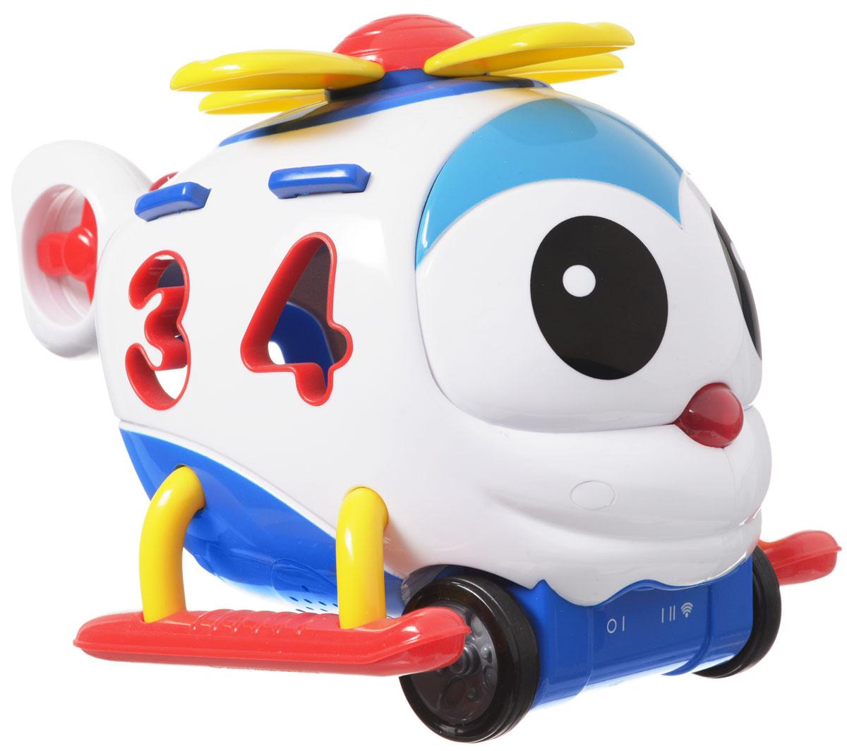 Learning Journey Игрушка на радиоуправлении Умный вертолетик242094Развивающая игрушка Learning Journey Умный вертолетик - это многофункциональное устройство на дистанционном управлении, которое обязательно понравится вашему малышу. Вертолетик может работать в 3-х режимах - как сортер, как развивающая и как дистанционно управляемая игрушка. Малыш познакомится с цифрами и цветами, разовьет свои логические и моторные навыки. Вертолетик издает забавные звуки и проигрывает веселые мелодии, его колесики вращаются, а забавный носик загорается. Движение вперед и назад, функция автоматического выключения, удобный отсек для хранения цифр. В комплекте: вертолетик, пульт управления, 4 цифры. Игрушка разработана для детей от полутора лет. Для работы игрушки необходимы 3 батарейки типа АА (не входят в комплект). Для работы пульта управления необходимы 2 батарейки типа АА (не входят в комплект).