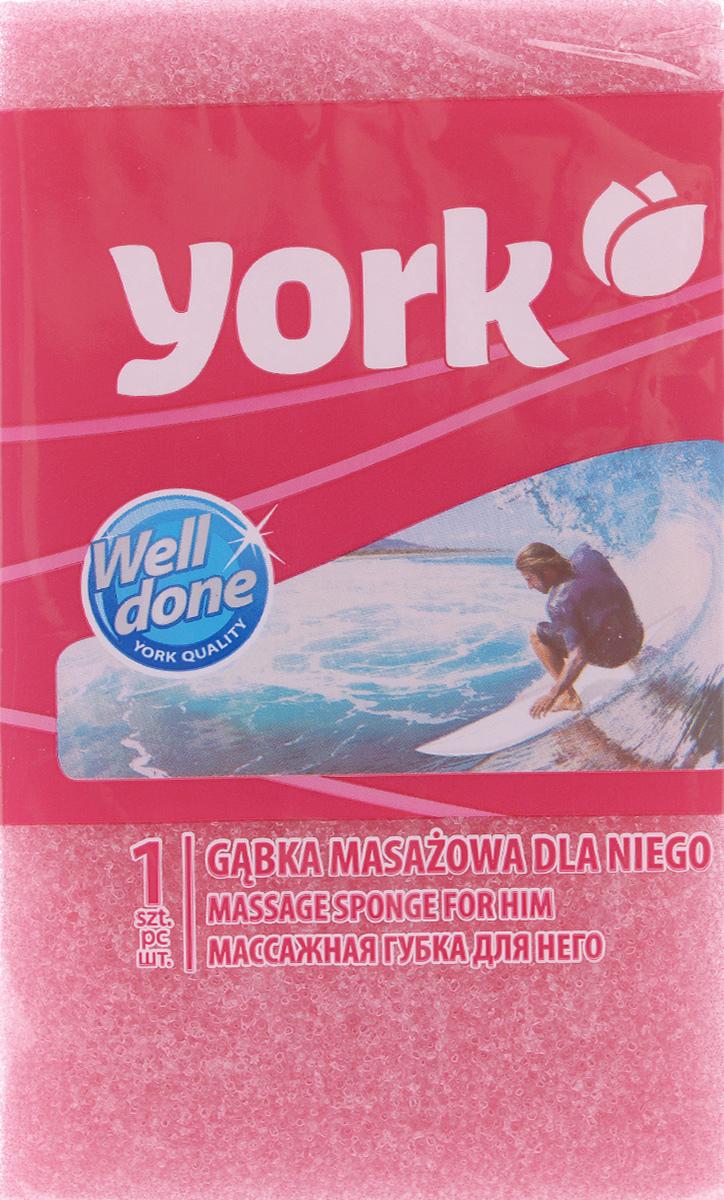 Губка для тела York Рэмбо. Для него, цвет: розовый, 18 см х 10,5 см х 6 см1007_розовыйГубка для тела York Рэмбо. Для него изготовлена из мягкого полимера. Классическая прямоугольная форма отлично подходит для мытья и массажа тела. Пористая структура губки создает воздушную пену даже при небольшом количестве геля для душа. Эффективно очищает и массирует кожу, улучшая кровообращение и повышая тонус.