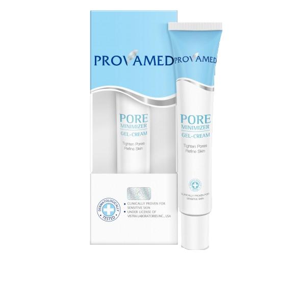 Provamed Крем-гель для лица Pore minimizer для сужения пор, 30 мл.1201PROVAMED Pore minimizer контролирует выработку кожного сала, которое является причиной возникновения угревой сыпи и расширенных пор. Натуральные экстракты и витамин С улучшают структуру кожи, выравнивают кожу лица, предотвращают воспаление и возвращают ей здоровый вид.