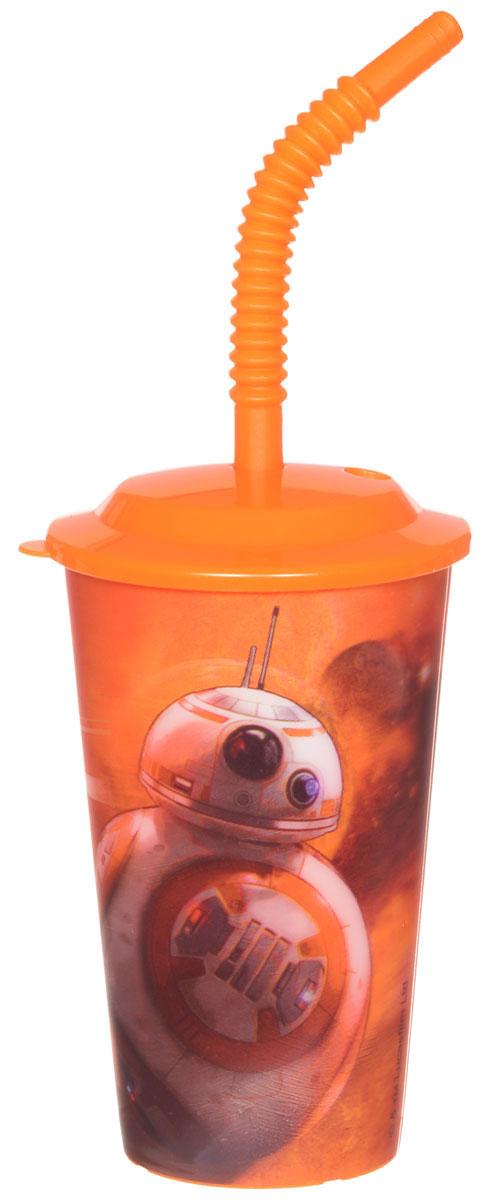 Star Wars Стакан детский с крышкой и трубочкой Роботы 600 мл