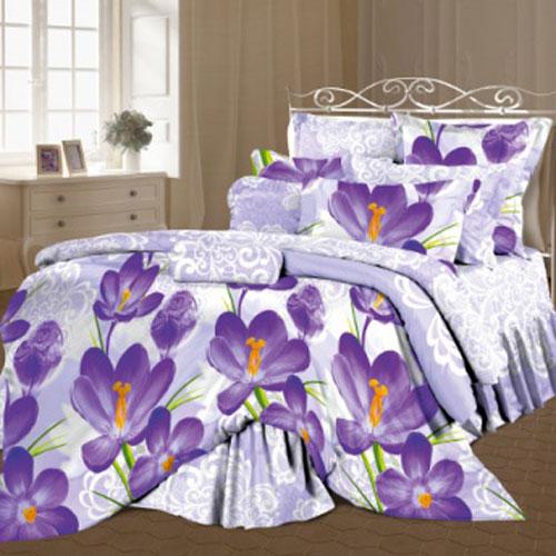 Комплект белья Romantic Цветы шафрана, 2-спальный, наволочки 50х70, цвет: светло-сиреневый, фиолетовый. 295490295490Роскошный комплект постельного белья Romantic Цветы шафрана выполнен из ткани Lux Cotton, произведенной из натурального длинноволокнистого мягкого 100% хлопка. Ткань приятная на ощупь, при этом она прочная, хорошо сохраняет форму и легко гладится. Комплект состоит из пододеяльника, простыни и двух наволочек, оформленных оригинальным изображением цветов. Постельное белье Romantic создано специально для утонченных и романтичных натур. Дизайн постельного белья подчеркнет ваш индивидуальный стиль и создаст неповторимую и романтическую атмосферу в вашей спальне.
