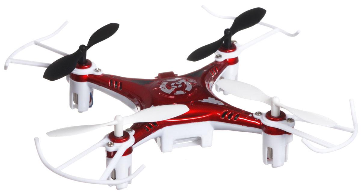 Bayang Toy Квадрокоптер на радиоуправлении X7 цвет красныйX7Квадрокоптер Х7 c инфракрасным четырехканальным управлением будет отличной покупкой для начинающих пилотов. Благодаря своей невысокой цене и отличным полетным характеристикам, каждый человек сможет приобщиться к увлекательному миру квадрокоптеров. Квадрокоптер имеет небольшие размеры, а также оснащен дополнительной защитой, которая делает его устойчивым при ударах и падениях, поэтому его можно эксплуатировать как на улице так и в помещении. И самое главное, он способен переворачиваться в воздухе на 360 градусов! Модель работает от встроенного аккумулятора, который можно заряжать от USB-шнура (входит в комплект). Для работы пульта управления необходимо докупить 4 батарейки напряжением 1,5V типа АА (в комплект не входят).