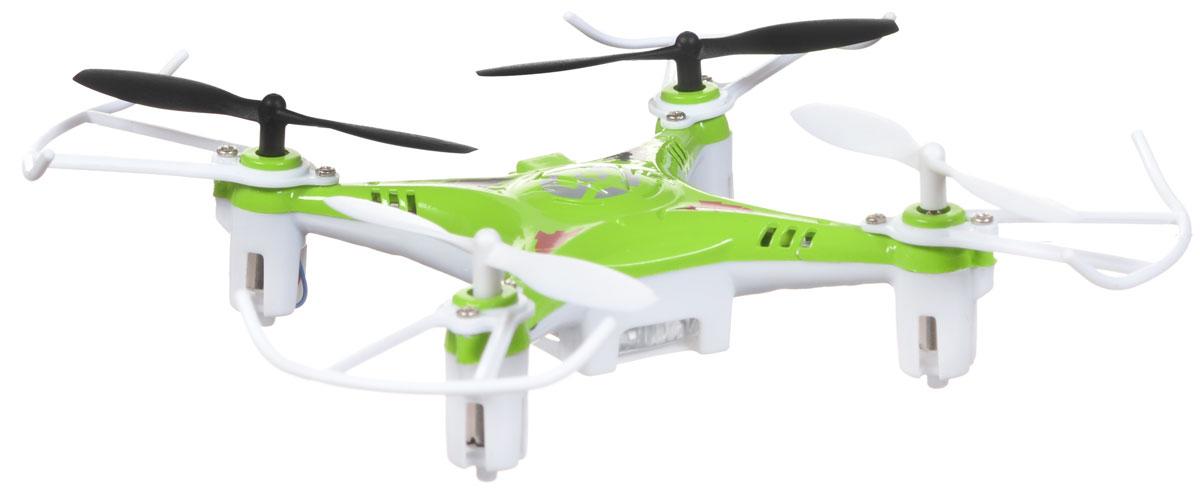 Bayang Toy Квадрокоптер на радиоуправлении X7 цвет зеленыйX7Квадрокоптер Х7 c инфракрасным четырехканальным управлением будет отличной покупкой для начинающих пилотов. Благодаря своей невысокой цене и отличным полетным характеристикам, каждый человек сможет приобщиться к увлекательному миру квадрокоптеров. Квадрокоптер имеет небольшие размеры, а также оснащен дополнительной защитой, которая делает его устойчивым при ударах и падениях, поэтому его можно эксплуатировать как на улице так и в помещении. И самое главное, он способен переворачиваться в воздухе на 360 градусов! Модель работает от встроенного аккумулятора, который можно заряжать от USB-шнура (входит в комплект). Для работы пульта управления необходимо докупить 4 батарейки напряжением 1,5V типа АА (в комплект не входят).