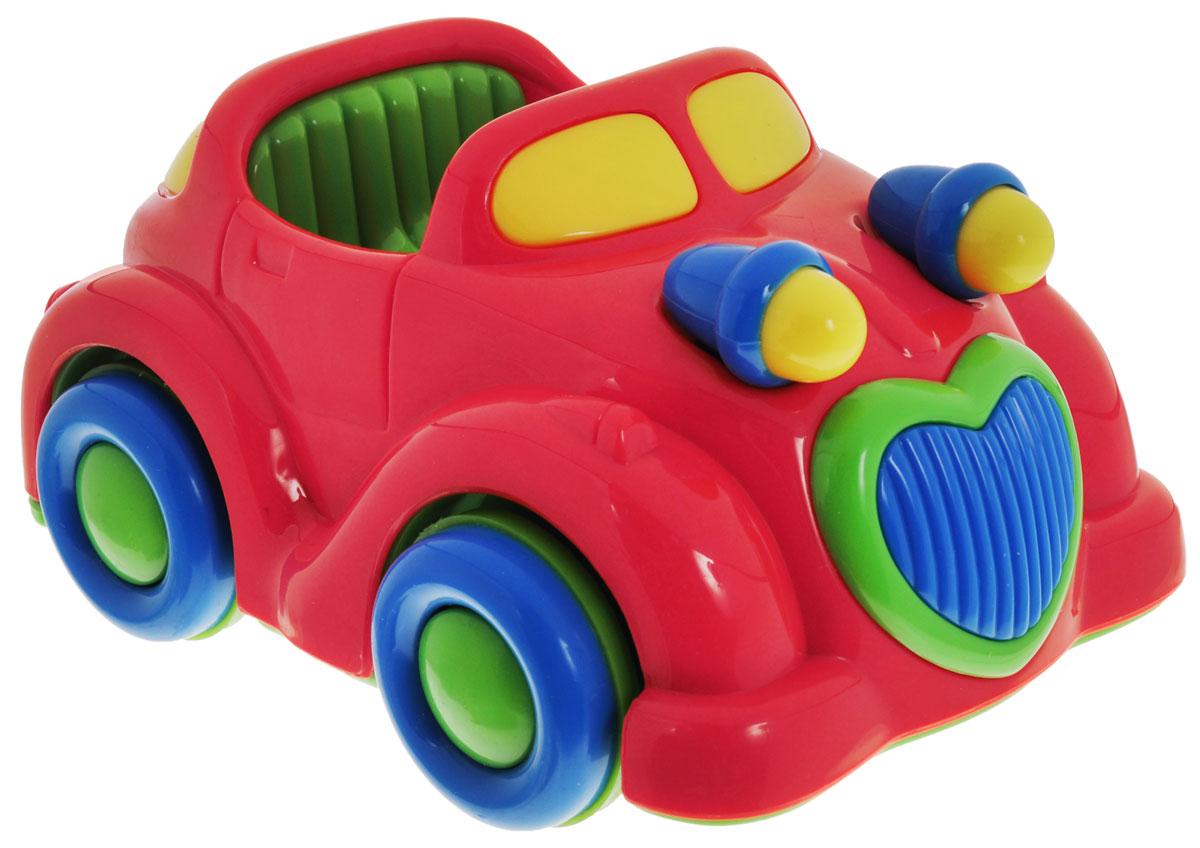 Simba Машинка инерционная цвет красный4015832_красная машинкаЯркая игрушка Simba Машинка привлечет внимание вашего малыша и не позволит ему скучать! Выполненная из безопасного пластика, игрушка представляет собой забавную машинку. Округлые без острых углов формы гарантируют безопасность даже самым маленьким. Для запуска, установите игрушку на поверхность, потяните назад или прокатите вперед и отпустите, игрушка продолжит движение. Во время движения начинают двигаться фары. Инерционная игрушка Машинка поможет ребенку в развитии воображения, мелкой моторики рук, концентрации внимания и цветового восприятия.