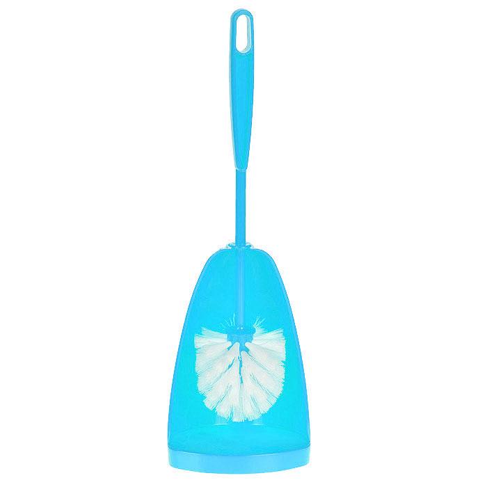 Ершик для туалета Centi Соло, с подставкой, цвет: голубой, 2 предмета6406Ершик для туалета Centi Соло выполнен из высококачественного пластика. Он хранится в специальной пластиковой подставке, обеспечивая гигиеничность использования и облегчая уход. Ершик отлично чистит поверхность, а грязь с него легко смывается водой. Общая высота: 38 см. Длина ершика: 33 см. Размер подставки для ершика: 12 х 10,5 х 18,5 см.
