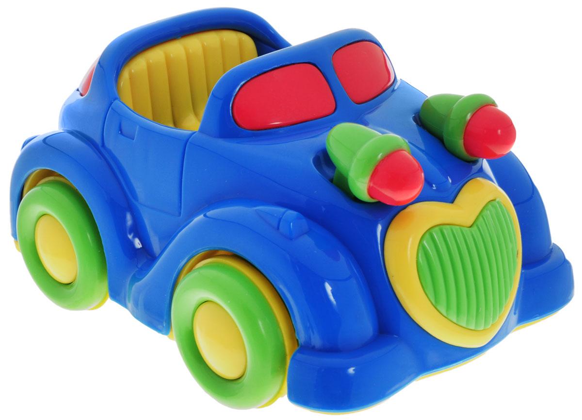 Simba Машинка инерционная цвет синий4015832_синяя машинкаЯркая игрушка Simba Машинка привлечет внимание вашего малыша и не позволит ему скучать! Выполненная из безопасного пластика, игрушка представляет собой забавную машинку. Округлые без острых углов формы гарантируют безопасность даже самым маленьким. Для запуска, установите игрушку на поверхность, потяните назад или прокатите вперед и отпустите, игрушка продолжит движение. Во время движения начинают двигаться фары. Инерционная игрушка Машинка поможет ребенку в развитии воображения, мелкой моторики рук, концентрации внимания и цветового восприятия.
