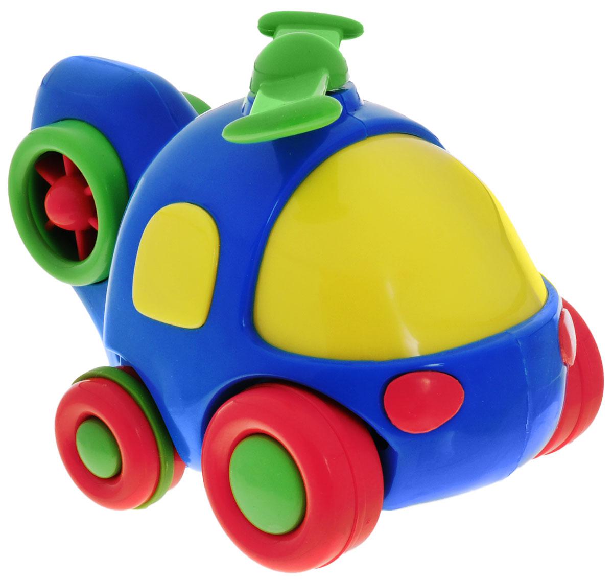 Simba Вертолет инерционный цвет синий4015832_синий вертолетЯркая игрушка Simba Вертолет привлечет внимание вашего малыша и не позволит ему скучать! Выполненная из безопасного пластика, игрушка представляет собой забавный вертолет. Округлые без острых углов формы гарантируют безопасность даже самым маленьким. Для запуска, установите игрушку на поверхность, оттяните ее назад или прокатите вперед и отпустите, игрушка продолжит движение. Во время движения пропеллер начинает вращаться. Инерционная игрушка Вертолет поможет ребенку в развитии воображения, мелкой моторики рук, концентрации внимания и цветового восприятия.