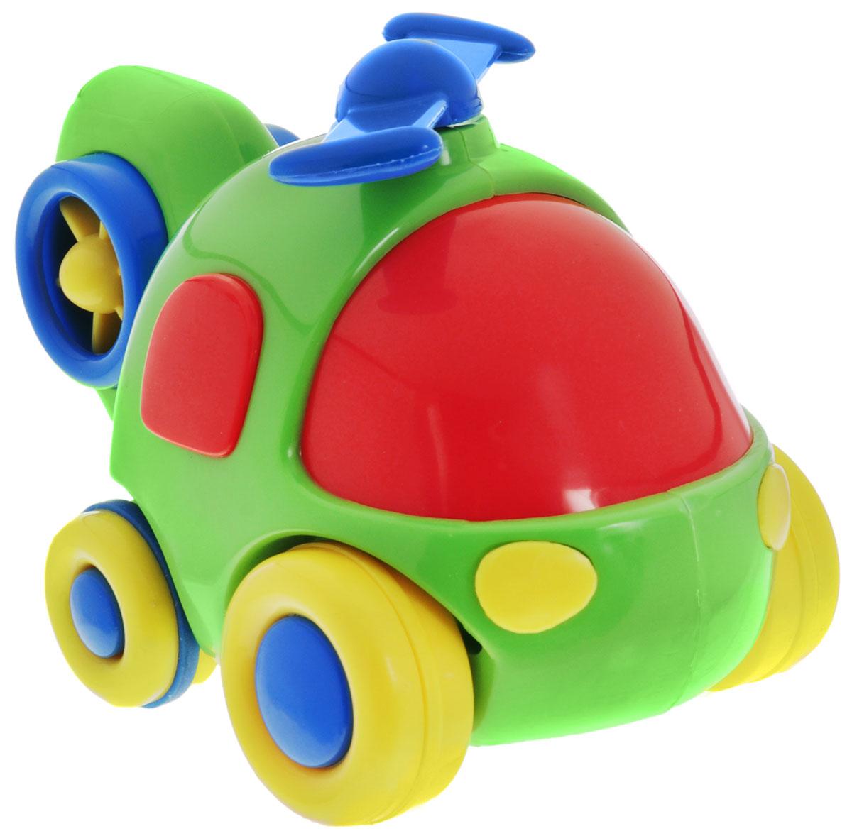 Simba Вертолет инерционный цвет салатовый4015832_зеленый вертолетЯркая игрушка Simba Вертолет привлечет внимание вашего малыша и не позволит ему скучать! Выполненная из безопасного пластика, игрушка представляет собой забавный вертолет. Округлые без острых углов формы гарантируют безопасность даже самым маленьким. Для запуска, установите игрушку на поверхность, оттяните ее назад или прокатите вперед и отпустите, игрушка продолжит движение. Во время движения пропеллер начинает вращаться. Инерционная игрушка Вертолет поможет ребенку в развитии воображения, мелкой моторики рук, концентрации внимания и цветового восприятия.