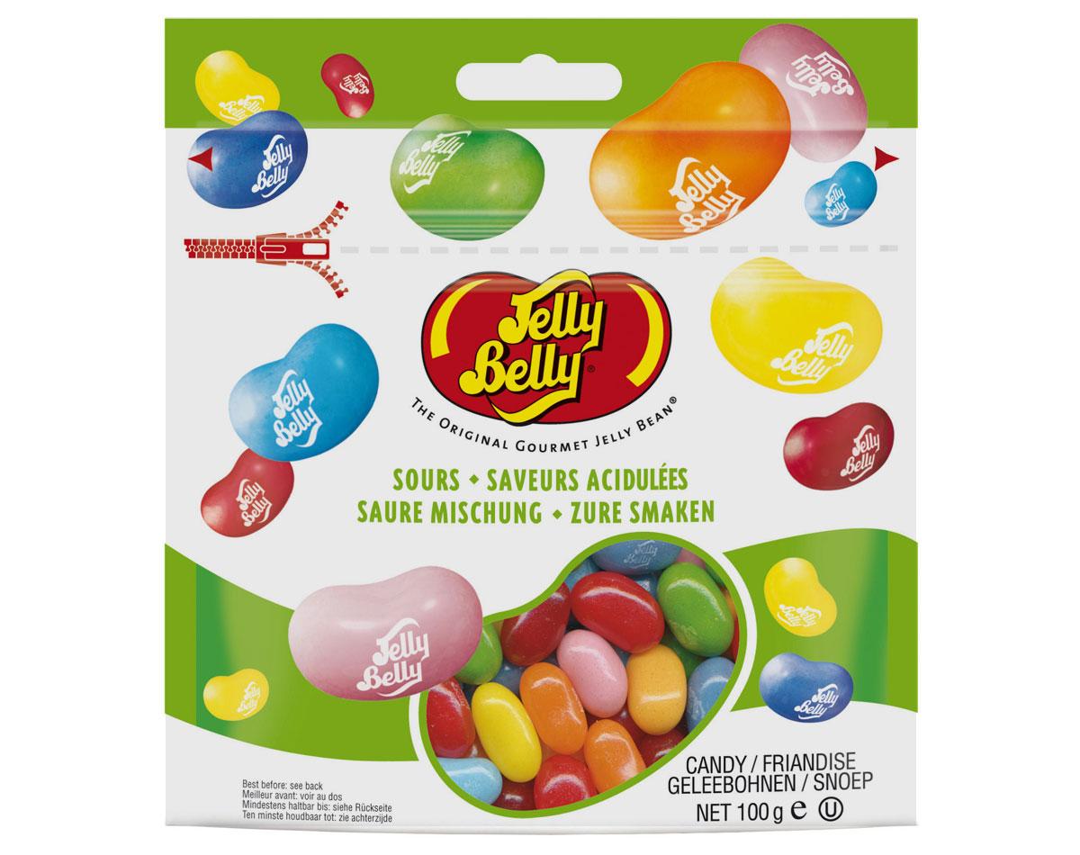 Jelly Belly Ассорти кислые фрукты драже жевательное, 100 г
