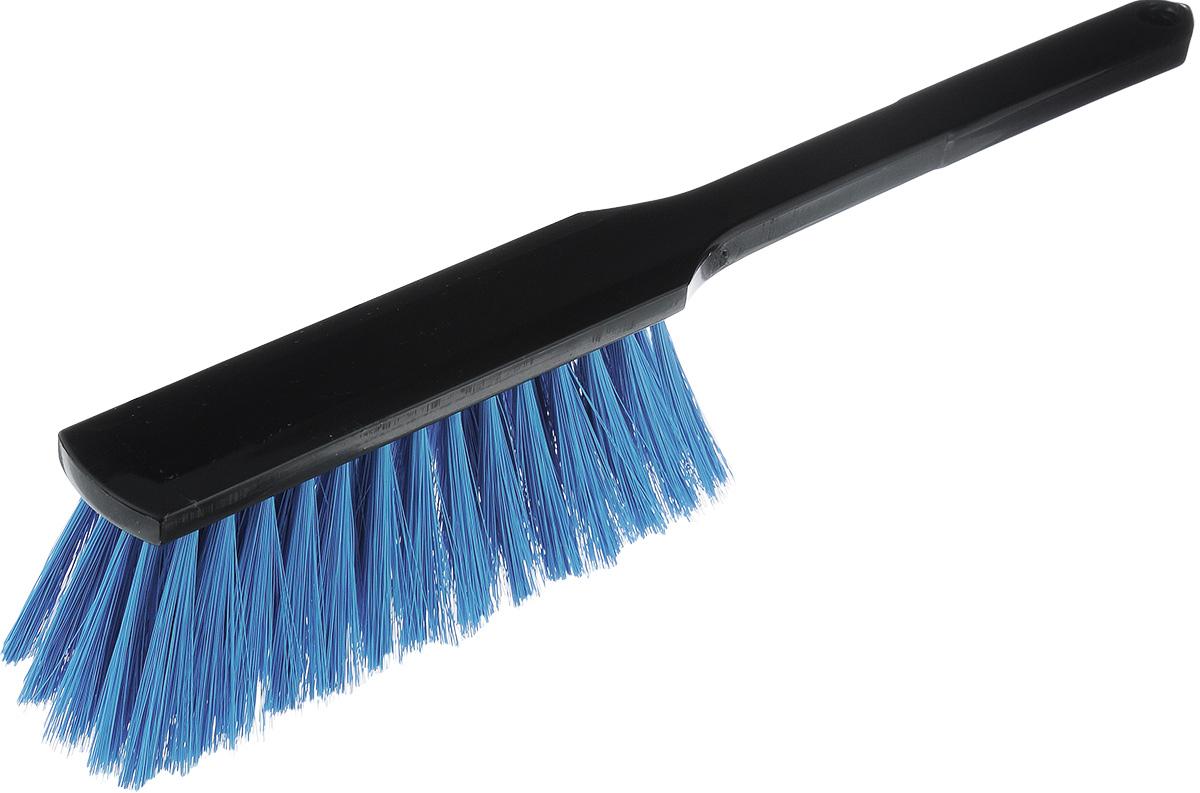 Щетка хозяйственная Centi, цвет: черный, голубой, 38 х 7 х 4 см6002Хозяйственная щетка Centi, изготовленная из прочного пластика и сложных полимеров, оснащена специальным отверстием для подвешивания. Изделие станет незаменимым помощником в деле удаления пыли и мусора с различных поверхностей. Эластичный ворс на щетке не оставит от грязи и следа. Длина ворса: 6,5 см.