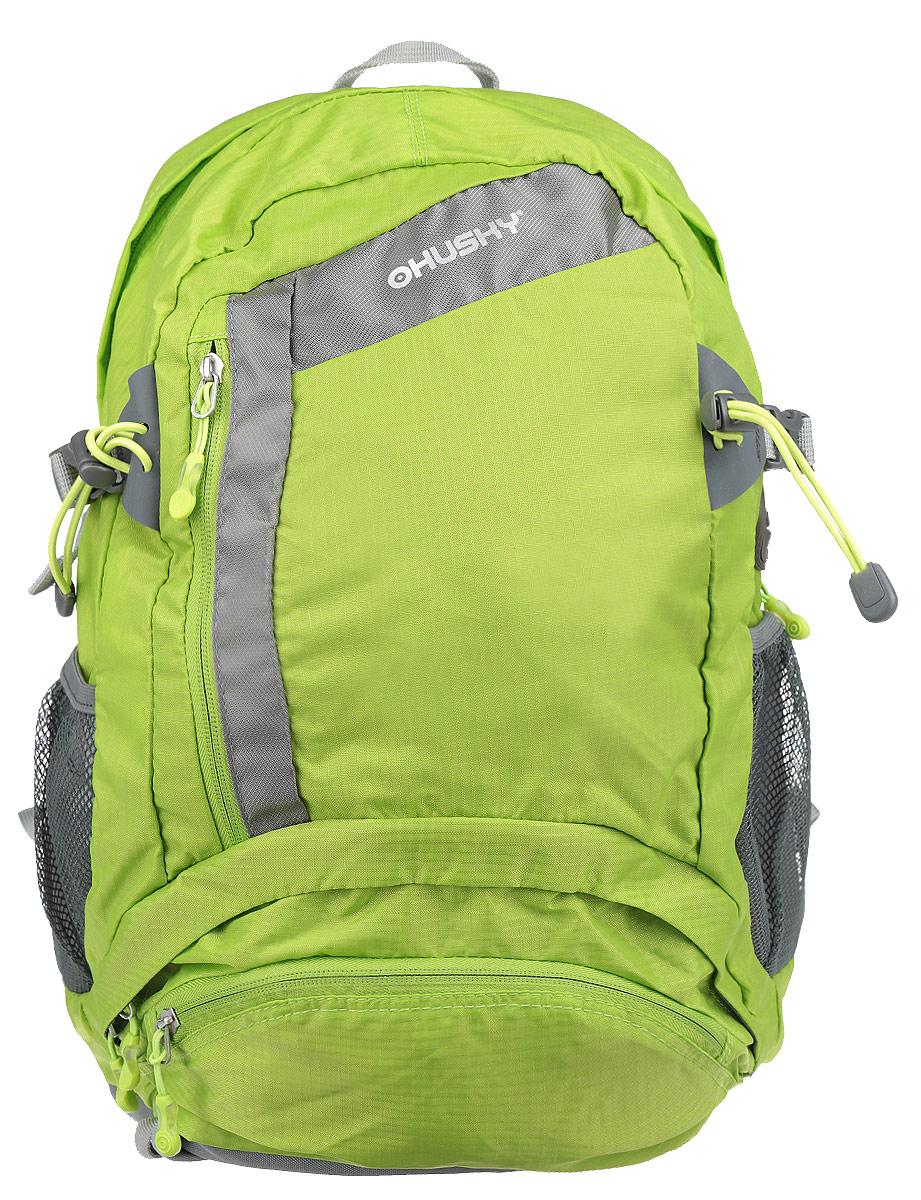 Рюкзак городской Husky Stingy 28L, цвет: зеленый, серыйУТ-000053012Рюкзак Husky Stingy 28L предназначен для прогулок и велоспорта. Он позволит вам взять с собой все необходимое. Рюкзак выполнен из прочного нейлона. Особенности рюкзака: Водонепроницаемая ткань; Система вентиляции спины; Крепеж для треккинговой палки; Карман для питьевой системы с выходом; Накидка от дождя; Боковые карманы-сетки; Светоотражающие элементы.