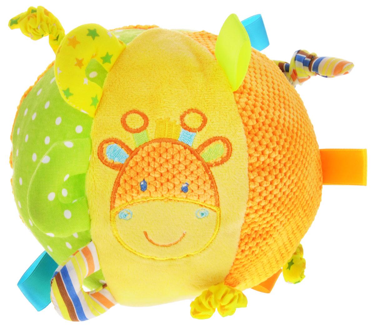Жирафики Развивающая игрушка Мячик цвет желтый салатовый