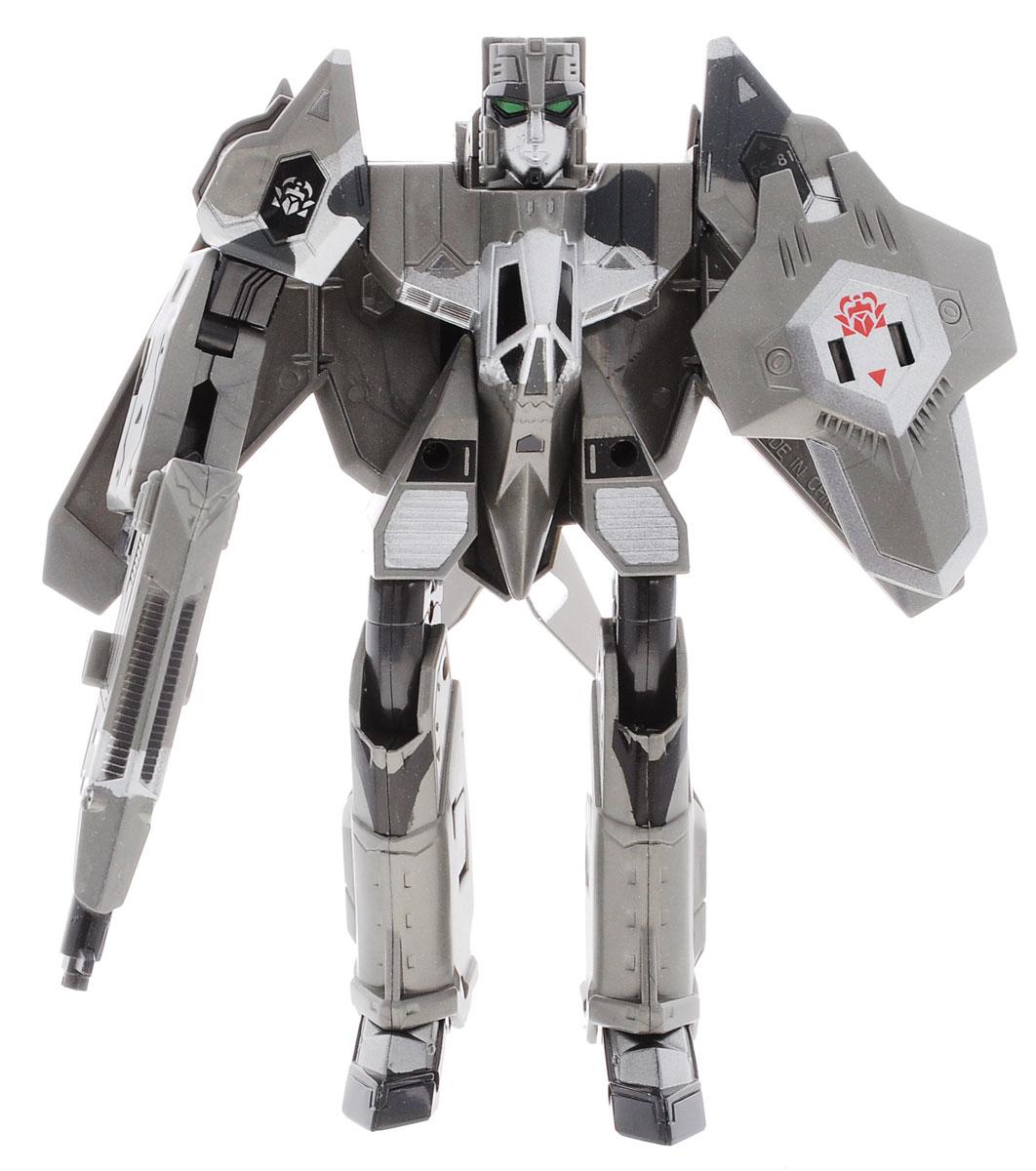 Happy Well Трансформер Xbot-Самолет-истребитель20781Оригинальный робот-трансформер Xbot-Самолет-истребитель порадует вашего ребенка и надолго займет его внимание. Он выполнен из прочного пластика черного и серебристого цветов. Конструкция робота имеет подвижные соединения, благодаря чему ему можно придавать различные позы. Этот необычный робот-трансформер имеет целых три формы трансформации. В первой форме он представляет собой мощного боевого робота. В комплекте идет игрушечный бластер и щит, которые он может взять в руки. Во второй форме трансформер превращается в Аэробота - самолет с механическими ногами. Наконец, последняя форма - это военный истребитель. Проявив свою конструкторскую смекалку, юный любитель техники сможет превратить грозного футуристического воина в точную модель современного боевого самолета-истребителя. Тщательная детализация и оригинальный дизайн подарят мальчишке множество минут увлекательной игры. Превратить робота в транспортное средство поможет пошаговая иллюстрированная инструкция. ...