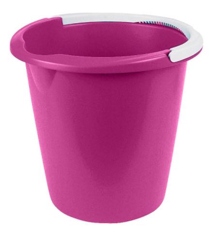 Ведро Curver, цвет: малиновый, 10 л1301_малиновыйВедро Curver выполнено из прочного пластика. Изделие снабжено небольшим носиком и удобной рельефной ручкой. На внутреннюю поверхность нанесены отметки литража. Такое ведро пригодится в любом хозяйстве, оно отлично подойдет для мытья полов или хранения мусора.