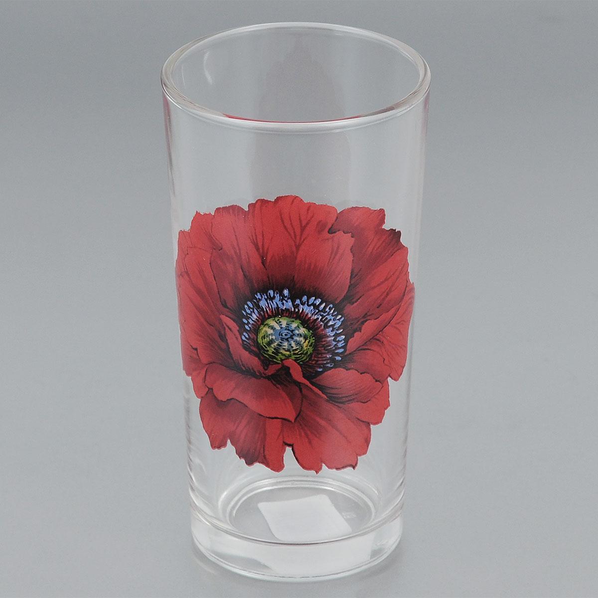 Стакан ОСЗ Алый мак, 230 мл05C1256 ДЗ АМАКСтакан ОСЗ Алый мак выполнен из высококачественного натрий-кальций-силикатного стекла, которое изысканно блестит и переливается на свету. Изделие украшено ярким изображением цветка. Такой стакан отлично дополнит вашу коллекцию кухонной утвари и порадует вас классическим лаконичным дизайном и практичностью. Диаметр стакана: 6,5 см. Высота стакана: 12,5 см.