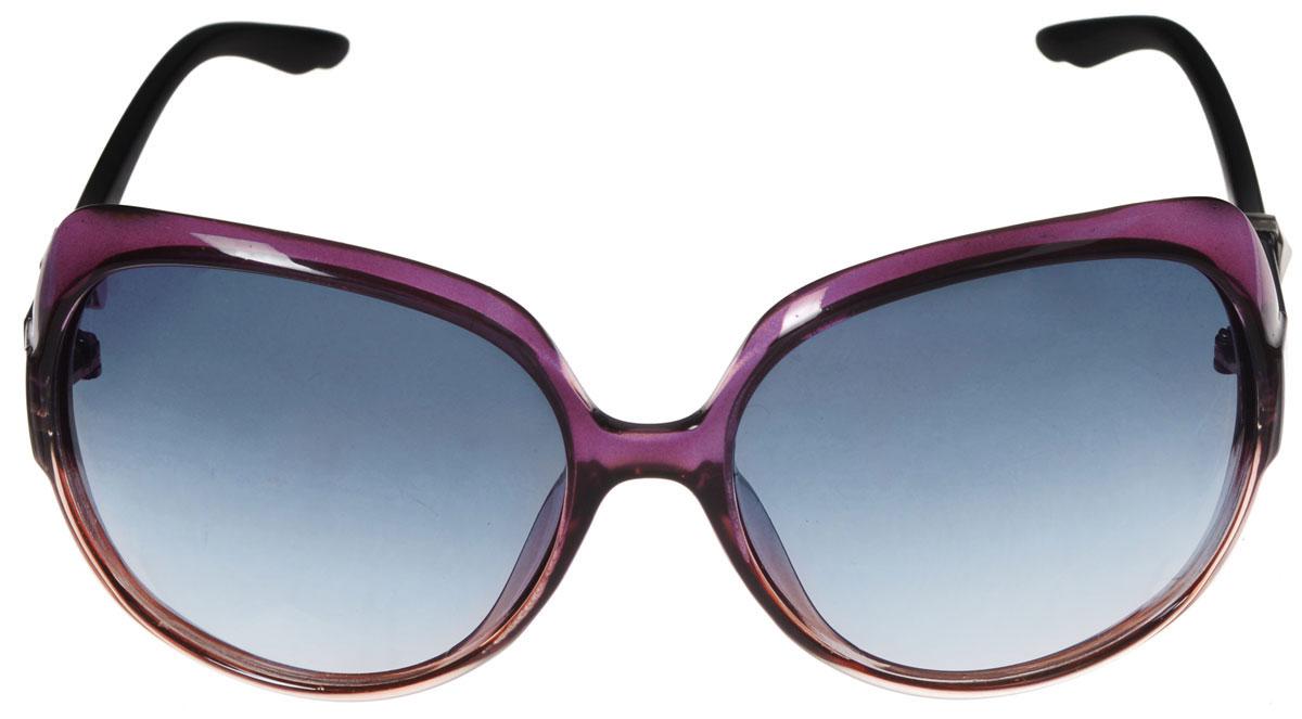 """Солнцезащитные очки женские """"Popular"""", цвет: светло-коричневый, бордовый. P 54048 С3 P 54048 С3_светло-коричневый, бордовый"""