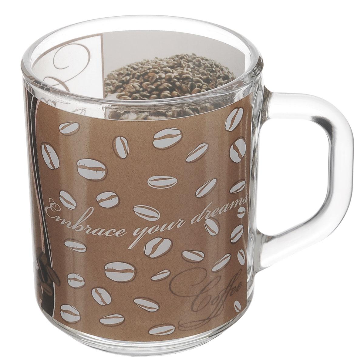 Кружка ОСЗ Кофе, 200 мл07С1335 ДЗ К8Кружка ОСЗ Кофе выполнена из высококачественного стекла. Внешние стенки оформлены изображением зерен кофе. Такая кружка станет неизменным атрибутом чаепития и порадует вас классическим лаконичным дизайном и практичностью.