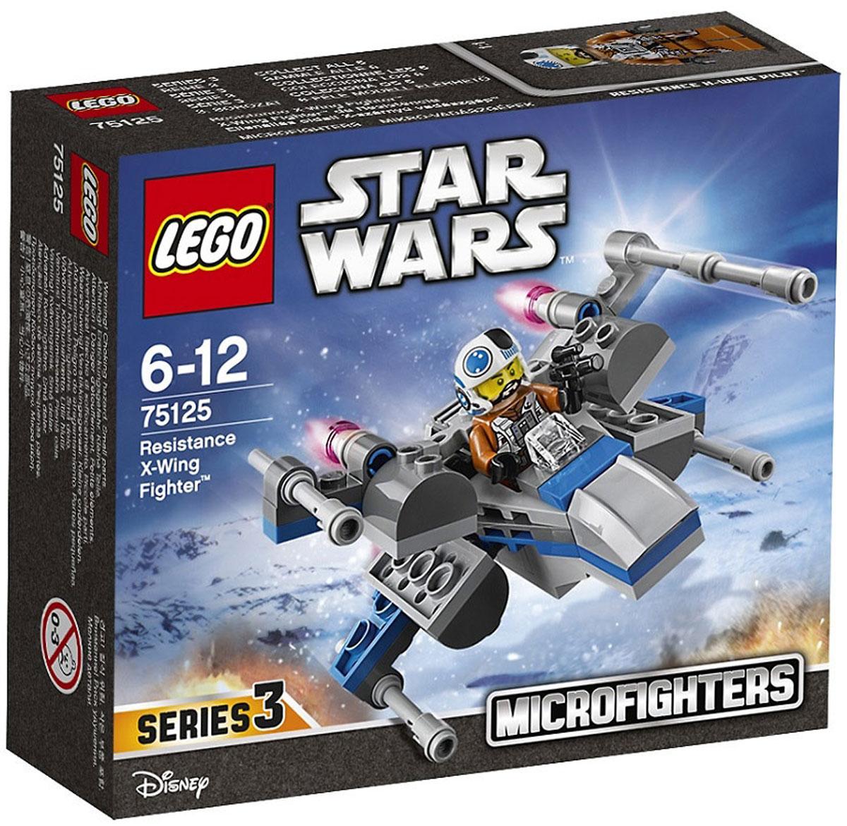LEGO Star Wars Конструктор Истребитель Повстанцев 7512575125Конструктор Lego Star Wars Истребитель Повстанцев приведет в восторг любого поклонника знаменитой космической саги Звездные войны. Конструктор содержит 87 пластиковых элементов, с помощью которых вы сможете собрать оригинальную боевую машину из вселенной Звездных войн. Первый Орден атакует, и теперь пришло время пустить в ход миниатюрный Истребитель типа Х сил Сопротивления. Посади пилота Истребителя сил Сопротивления в кабину, сложи крылья и стартуй, чтобы принять участие в космических битвах LEGO® Звёздные Войны. Все элементы набора выполнены из прочного безопасного пластика. Корабль стреляет небольшими снарядами, входящими в набор. Также в набор входит фигурка пилота Сопротивления. Игры с конструкторами помогут ребенку развить воображение, внимательность, пространственное мышление и творческие способности. Такой конструктор надолго займет внимание малыша и непременно станет его любимой игрушкой.