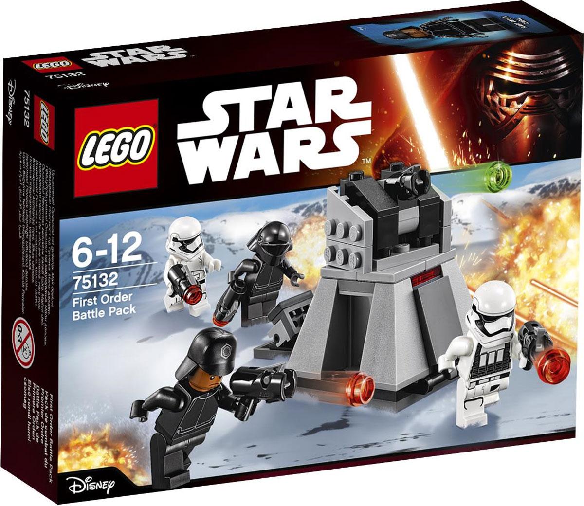 LEGO Star Wars Конструктор Боевой набор Первого Ордена 7513275132К объекту приближаются силы Сопротивления. Их необходимо отбросить назад выстрелом мощного турболазера. Добавь патроны из отсека для хранения оружия, прицелься и приготовься вести огонь! Конструктор LEGO Star Wars Боевой набор Первого Ордена - это один из самых увлекательнейших и веселых способов времяпрепровождения. Ребенок сможет часами играть с конструктором, придумывая различные ситуации и истории. В набор также входят 4 мини-фигурки солдат Первого Ордена. В процессе игры с конструкторами LEGO дети приобретают и постигают такие необходимые навыки как познание, творчество, воображение. Обычные наблюдения за детьми показывают, что единственное, чему они с удовольствием посвящают время, - это игры. Игра - это состояние души, это веселый опыт познания реальности. Играя, дети создают собственные миры, осваивают их, а познавая - приобретают знания и умения. Фантазия ребенка безгранична, беря свое начало в детстве, она позволяет ребенку учиться представлять в уме,...