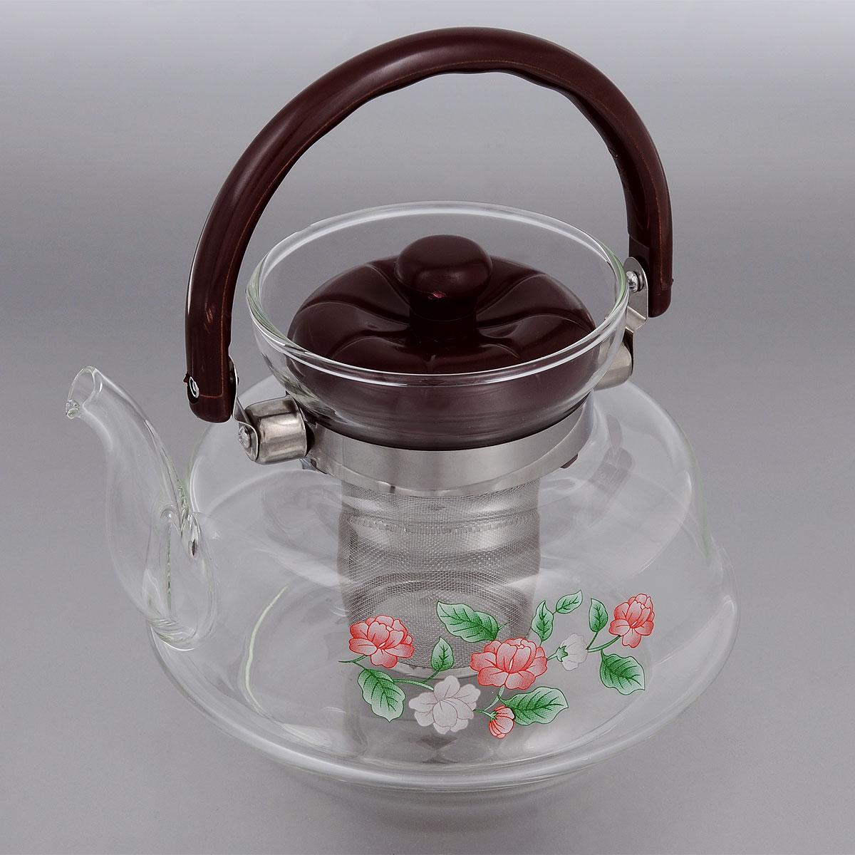 Чайник заварочный Mayer & Boch, с фильтром, 1,4 л. 25902590Заварочный чайник Mayer & Boch, выполненный из термостойкого стекла, предоставит вам все необходимые возможности для успешного заваривания чая. Изделие оснащено пластиковой ручкой, крышкой и сетчатым фильтром из нержавеющей стали, который задерживает чаинки и предотвращает их попадание в чашку. Чай в таком чайнике дольше остается горячим, а полезные и ароматические вещества полностью сохраняются в напитке. Эстетичный и функциональный чайник будет оригинально смотреться в любом интерьере. Диаметр чайника (по верхнему краю): 9,5 см. Высота чайника (с учетом ручки и крышки): 19 см. Высота чайника (без учета ручки и крышки): 13 см. Высота фильтра: 7,5 см.