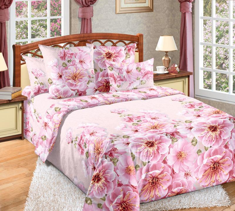 Комплект белья Текс-Дизайн Миндаль 2, 2-спальный, наволочки 70х70, цвет: розовый, зеленый2200ПВеликолепное постельное белье Текс-Дизайн Миндаль 2 выполнено из высококачественного перкаля (100% хлопок) и украшено изящным цветочным рисунком. Комплект состоит из пододеяльника, простыни и двух наволочек. Перкаль - это тонкая и легкая хлопчатобумажная ткань высокой плотности полотняного переплетения, сотканная из пряжи высоких номеров. При изготовлении перкаля используются длинноволокнистые сорта хлопка, что обеспечивает высокие потребительские свойства материала. Несмотря на свою утонченность, перкаль очень практичен - это одна из самых износостойких тканей для постельного белья.