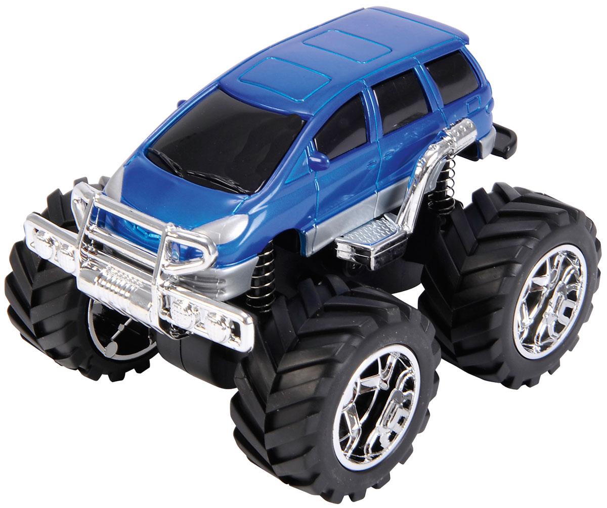 Dickie Toys Джип инерционный 4 x 4 Hill Roader цвет синий3314837Машинка Dickie Toys Джип 4 x 4 Hill Roader обязательно понравится вашему малышу и надолго увлечет его. Она выполнена из яркого безопасного пластика в виде джипа с большими высокими колесами. Колесики машинки прорезинены и дополнены пружинками. Игрушка оснащена инерционным механизмом - отведите ее назад и отпустите, и машинка быстро поедет вперед! Благодаря прорезиненным колесам, машинка превосходно движется по любой ровной поверхности. Игры с такой машинкой развивают концентрацию внимания, координацию движений, мелкую и крупную моторику, цветовое восприятие и воображение. Малыш будет часами играть с этой игрушкой, придумывая разные истории. Порадуйте своего ребенка таким замечательным подарком!