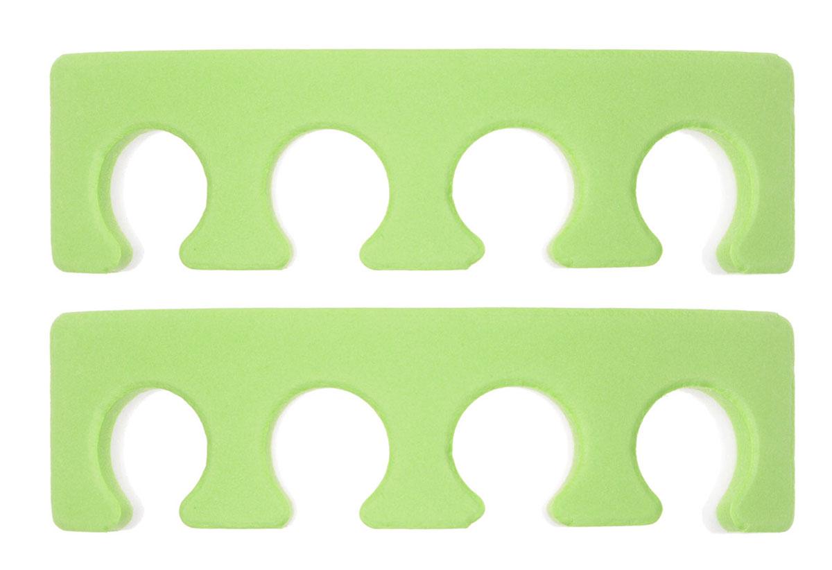 OPI Разделитель для пальцев ног, 2 шт, цвет: салатовый