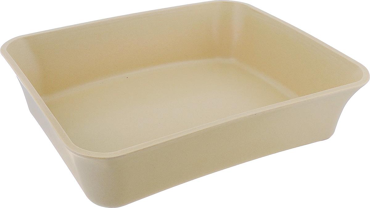 Туалет для кошек VanNess, цвет: бежевый, 45 см х 36 см х 11 см1005Туалет для кошек VanNess изготовлен из каучука, бамбука и рисовой шелухи. Высокий борт по периметру лотка предотвращает разбрасывание наполнителя. Это самый простой в употреблении предмет обихода для кошек и котов. Материал: каучук, бамбук, рисовая шелуха.