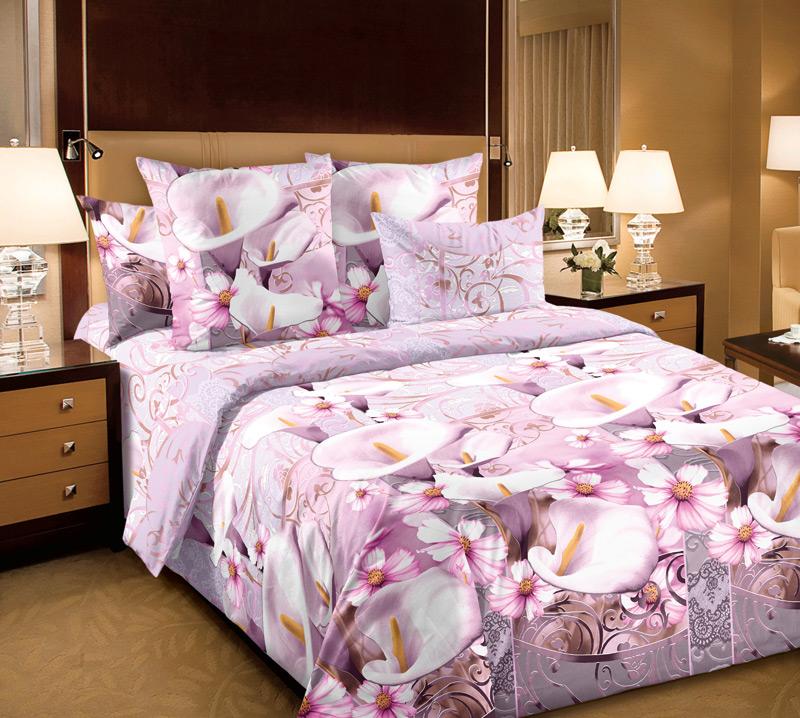 Комплект белья Белиссимо Амалия 2, евро 1, наволочки 70х70, цвет: розовый, белый4100БВеликолепное постельное белье Белиссимо Амалия 2 выполнено из высококачественной бязи (100% хлопок) и украшено изящным цветочным рисунком. Комплект состоит из пододеяльника, простыни и двух наволочек. Бязь - хлопчатобумажная плотная ткань полотняного переплетения. Отличается прочностью и стойкостью к многочисленным стиркам. Бязь считается одной из наиболее подходящих тканей, для производства постельного белья и пользуется в России большим спросом.