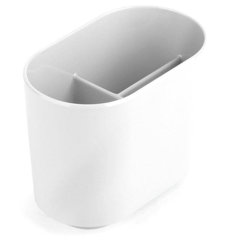 Держатель для зубных щеток Step белый. 023836-660023836-660Функциональность подставки для зубных щеток неоспорима - где же еще их хранить. А вот как насчет дизайна? В Umbra уверены: такой простой и ежедневно используемый предмет должен выглядеть лаконично, но необычно. Ведь в небольшой ванной комнате не должно быть ничего вызывающе яркого. Немного экспериментировав с формой, дизайнеры создали подставку Step, которая придется кстати в любом доме и вместит зубные щетки всех членов семьи.