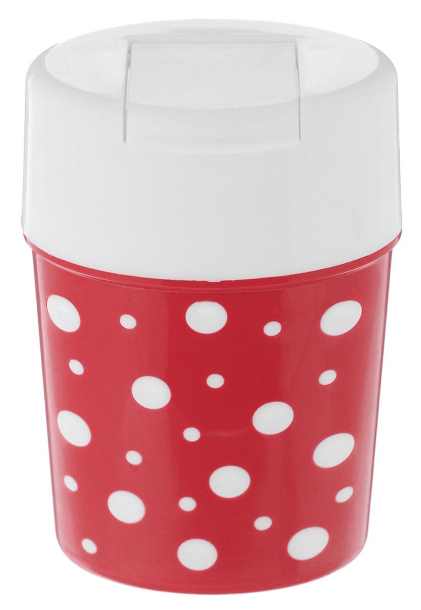 Солонка Альтернатива Горошек, цвет: красный, белый, 5,5 см х 4,5 см х 8 смМ3816_белая крышкаСолонка Альтернатива Горошек изготовлена из пластика. Она легка в использовании, стоит только открыть крышку, и вы с легкостью сможете посолить по своему вкусу любое блюдо. Солонка такого дизайна будет отлично смотреться на вашей кухне.