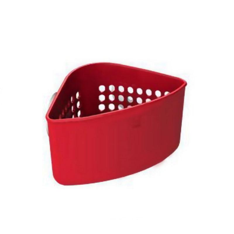 Органайзер для раковины Umbra Caddy, угловой, цвет: красный330711-505Кухонные органайзеры Кедди пополнились новыми, лаконичными и очень удобными уголками для раковины. Они крепятся внутри раковины на присоски (в комплекте). Уголки имеют множество дырочек, отвечающих сразу нескольким требованиям: 1) с их помощью можно самим регулировать, куда вставить присоски; 2) подойдёт в любую раковину; 3) они позволяют воздуху циркулировать и лучше высушивать губки и щётки; 4) они обеспечивают уголку стильный дизайн. Размер: 16 х 10 х 10 см.