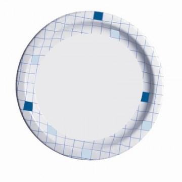 Набор одноразовых бумажных тарелок Huhtamaki, цвет: белый, синий, диаметр 23 см, 50 штПОС20970Набор Huhtamaki состоит из 50 круглых тарелок, выполненных из мелованной бумаги и предназначенных для одноразового использования. Изделия декорированы принтом в клетку по краям. Одноразовые тарелки будут незаменимы при поездках на природу, пикниках и других мероприятиях. Они не займут много места, легки и самое главное - после использования их не надо мыть. Диаметр тарелки: 23 см. Высота тарелки: 1,5 см.