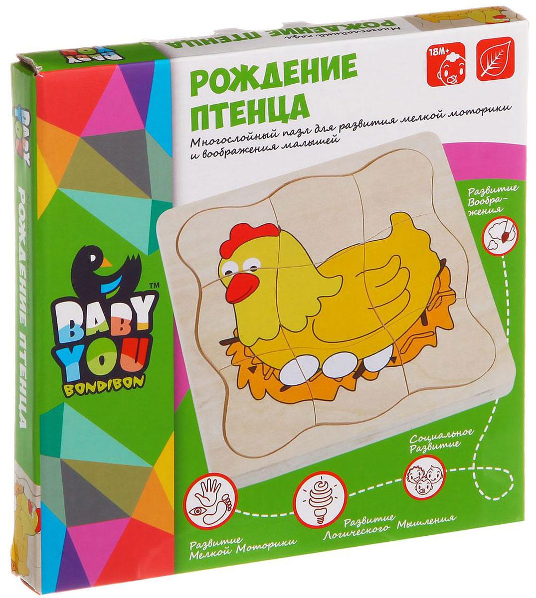 Bondibon Рамка-вкладыш Рождение птенцаВВ1106Мудрые родители выбирают для своих малышей игрушки, которые обучают малыша в процессе увлекательной игры, формируют его внутренний мир и не вредят здоровью. Деревянная развивающая игрушка Рождение птенца, детали которой сделаны из дерева, – это не просто яркий предмет, способный надолго увлечь ребенка, но и его первый учитель, рассказывающий о мире на интуитивно понятном крохе языке. Рамка с вкладышами совершенствует способность фиксировать взгляд на мелких предметах, знакомит с геометрическими фигурами и помогает на интуитивном уровне овладевать умением обобщать и сортировать предметы на основе их сходства или различия по форме.