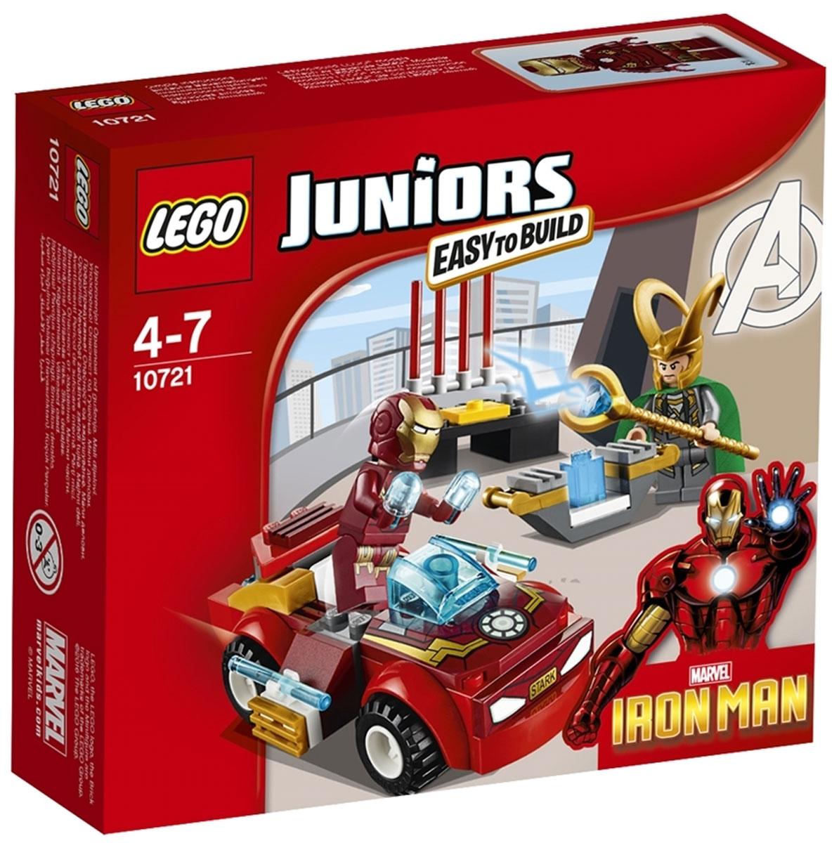 LEGO Juniors Конструктор Железный человек против Локи 1072110721Локи пытается украсть космический куб, но тут появляется Железный человек в своей суперскоростной машине! Сможет ли наш герой использовать свои особые способности, чтобы победить Локи? Только ты можешь это решить! Конструктор LEGO Juniors Железный человек против Локи включает в себя 66 разноцветных пластиковых элементов с двумя фигурками. Конструктор - это один из самых увлекательных и веселых способов времяпрепровождения. Ребенок сможет часами играть с конструктором, придумывая различные ситуации и истории.