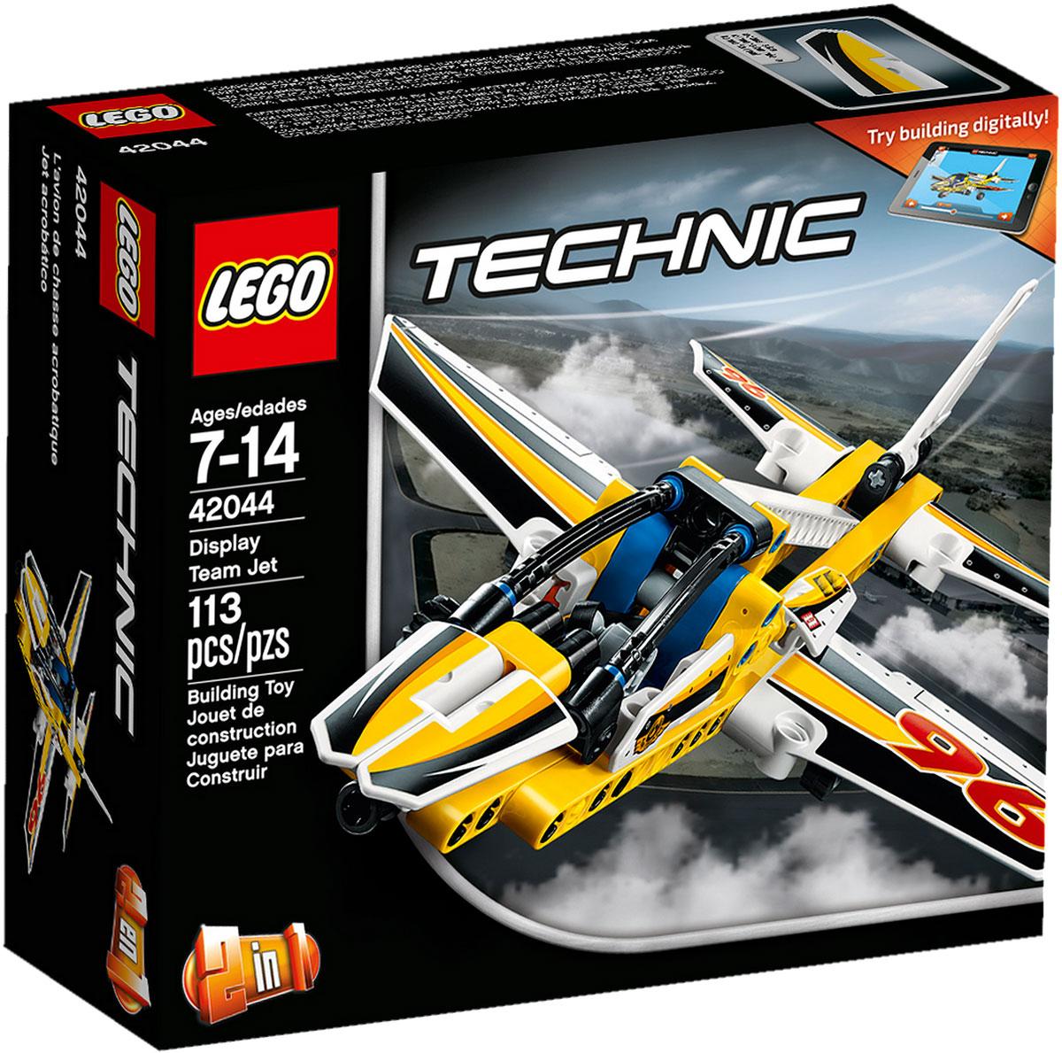 LEGO Technic Конструктор Самолет пилотажной группы 4204442044Наслаждайтесь приключениями в воздухе с этим высокотехнологичным, аэродинамичным самолетом. Удивительная модель 2 в 1 имеет большую кабину, убирающиеся шасси и раскрашена в желтый, черный и белый цвета со спортивными черно-белыми гоночными наклейками-шашечками. Когда будете готовы к новой задаче, соберите спортивный самолет для высшего пилотажа. Набор включает в себя 113 разноцветных пластиковых элементов. Конструктор станет замечательным сюрпризом вашему ребенку, который будет способствовать развитию мелкой моторики рук, внимательности, усидчивости и мышления. Играя с конструктором, ребенок научится собирать детали по образцу, проводить время с пользой и удовольствием.