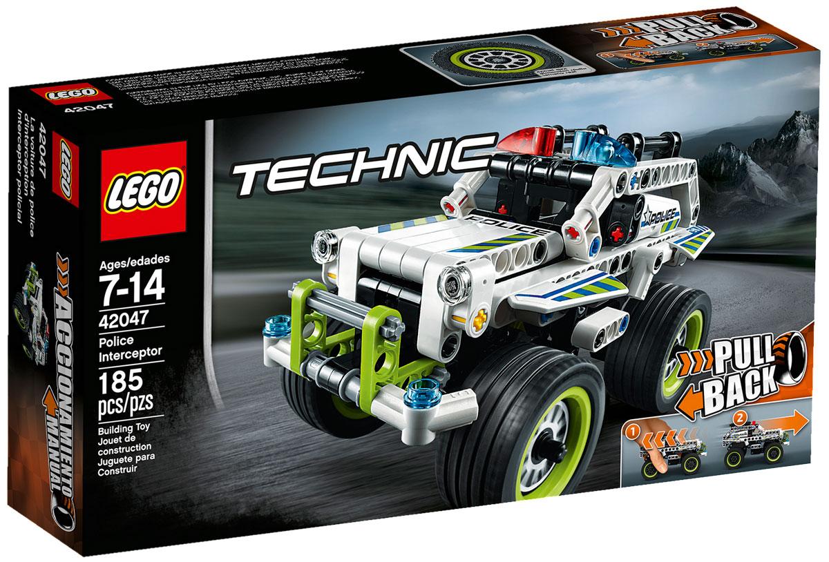 LEGO Technic Конструктор Полицейский патруль 4204742047Ускоряйтесь с головокружительной скоростью на этой удивительной модели, раскрашенной в белый, светло-зеленый и черный цвета с крутыми полицейскими наклейками и имеющей огромные экстра-широкие колесные диски с низкопрофильными шинами, красные и синие проблесковые полицейские маячки и тяжелый дополнительный бампер. Активируйте мощный инерционный двигатель, чтобы запустить полицейскую машину! Набор включает в себя 185 разноцветных пластиковых элементов. Конструктор - это один из самых увлекательных и веселых способов времяпрепровождения. Ребенок сможет часами играть с конструктором, придумывая различные ситуации и истории.